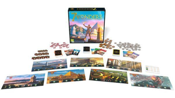 7 Wonders Second Edition components