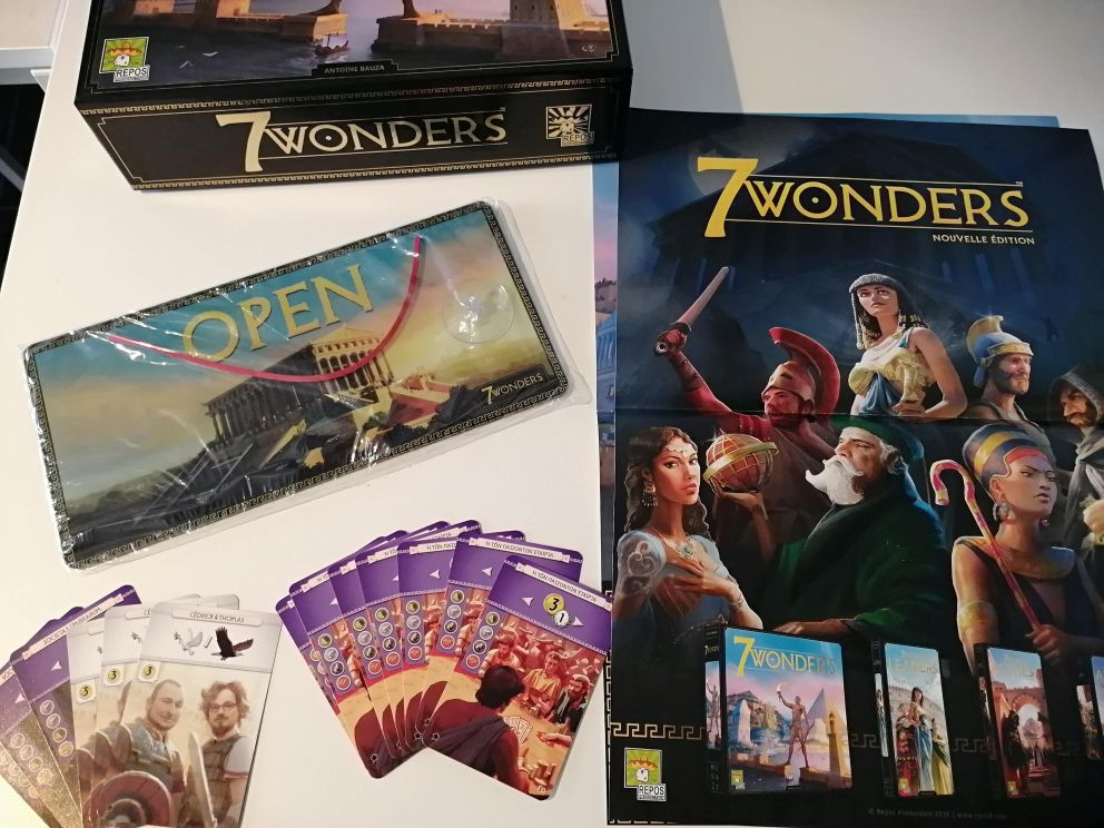 7 Wonders Second edition promo items