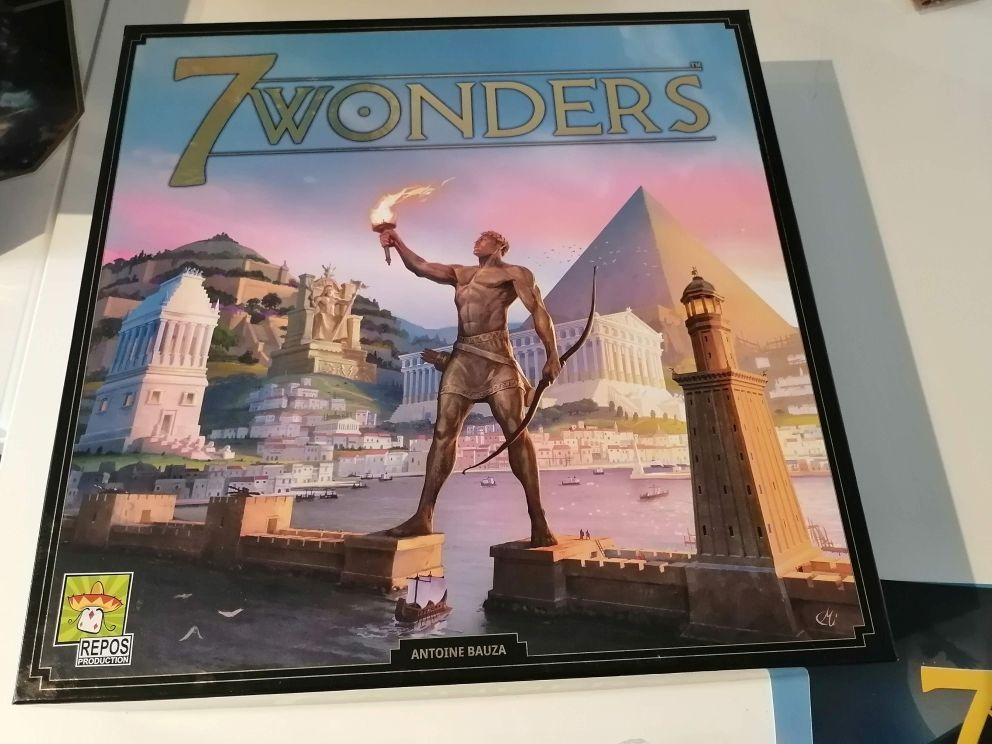 7 Wonders Second Edition card game cover