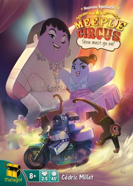 Meeple Circus Show Must Go On On expansion cover