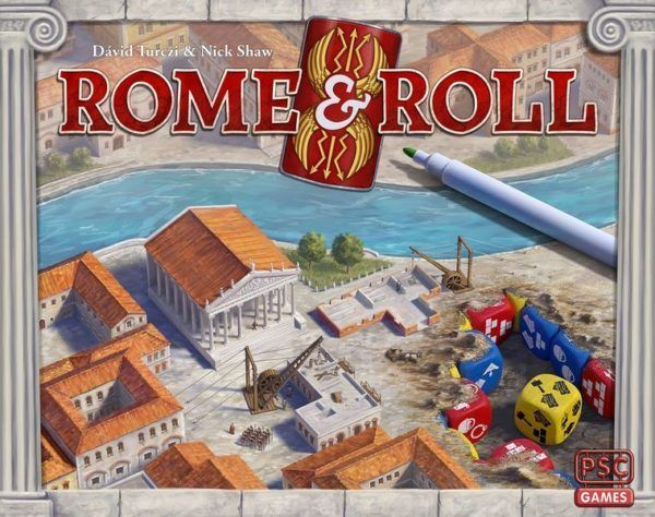 Rome and Roll board game