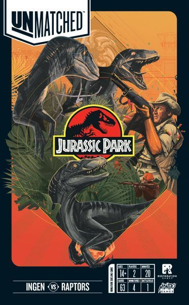 Unmatched Jurassic Park cover