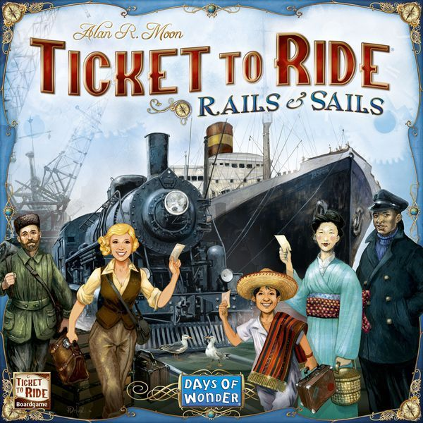 Ticket to Ride Rails & Sails board game box