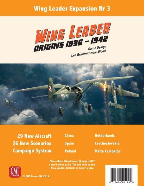 Wing Leader Origins 1936-1942 cover