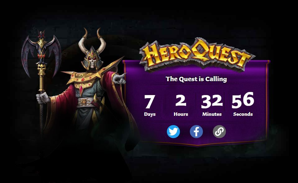 New HeroQuest website with countdown