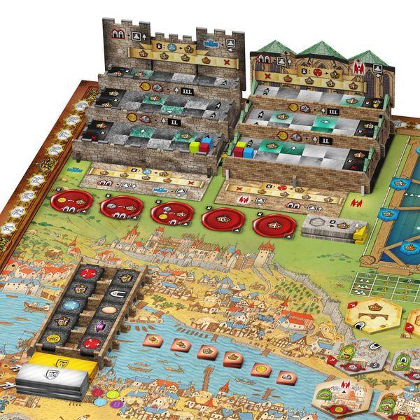 Praga Caput Regni Board Game components