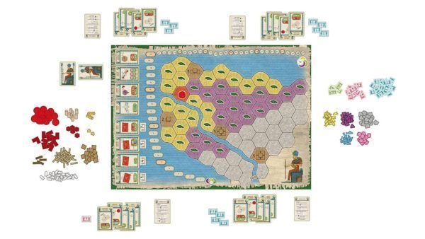 Faiyum Board Game components and setup