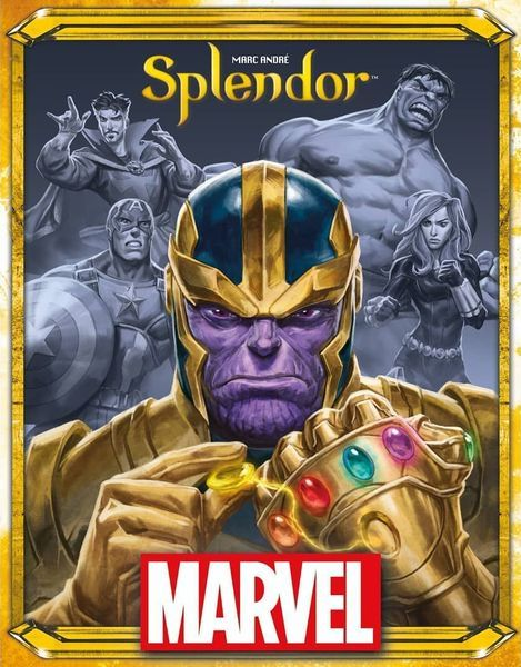 Splendor Marvel board game cover