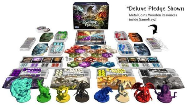 Dwellings of Eldervale Deluxe Edition Components