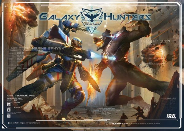 Galaxy Hunters board game cover