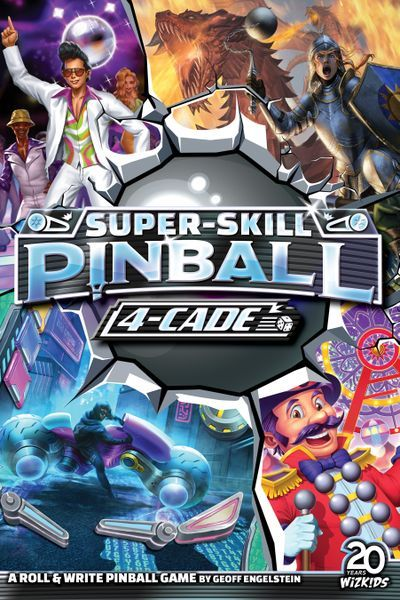 Super-Skill Pinball 4-Cade board game