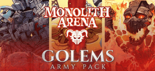 Monolith Arena Golems expansion cover