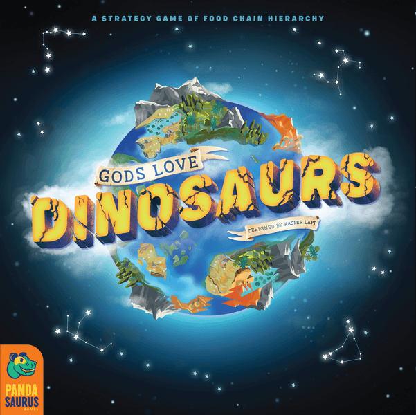 Gods Love Dinosaurs board game cover