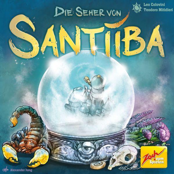 Die Seher von Santiiba board game cover