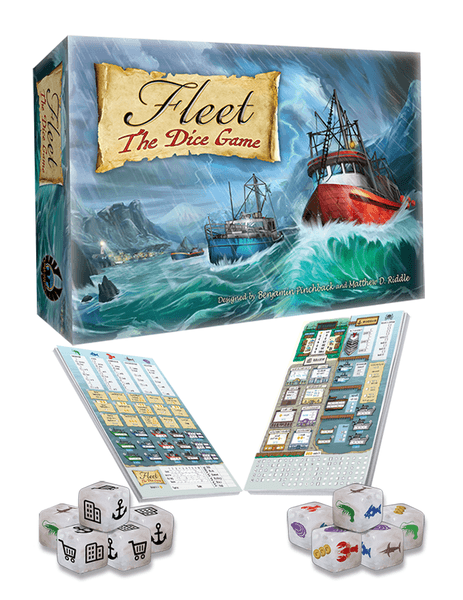 Fleet The Dice Game 2nd edition components
