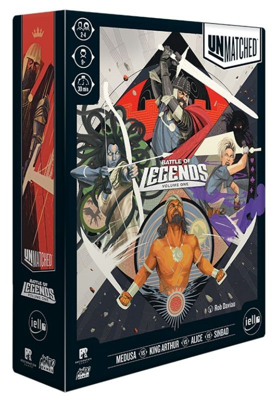 Unmatched Battle of Legends - Volume One Cover (Iello Edition)