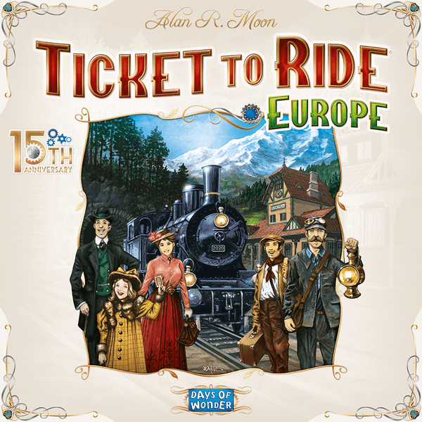 Ticket to Ride Europe 15th Anniversary cover