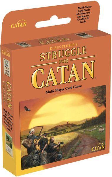 Struggle for Catan card game box