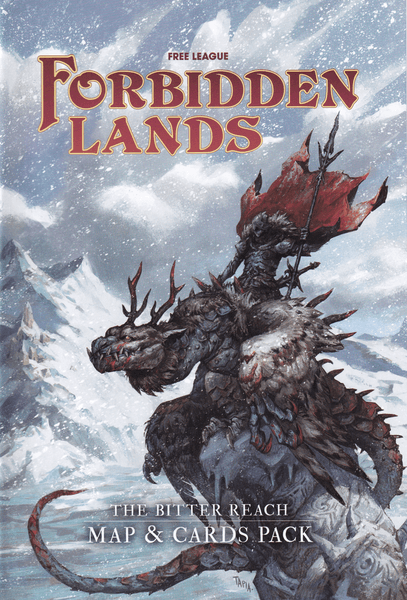 Forbidden Lands The Bitter Reach Map & Cards Pack