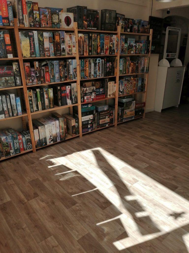New flooring in the Meeples' Corner shop