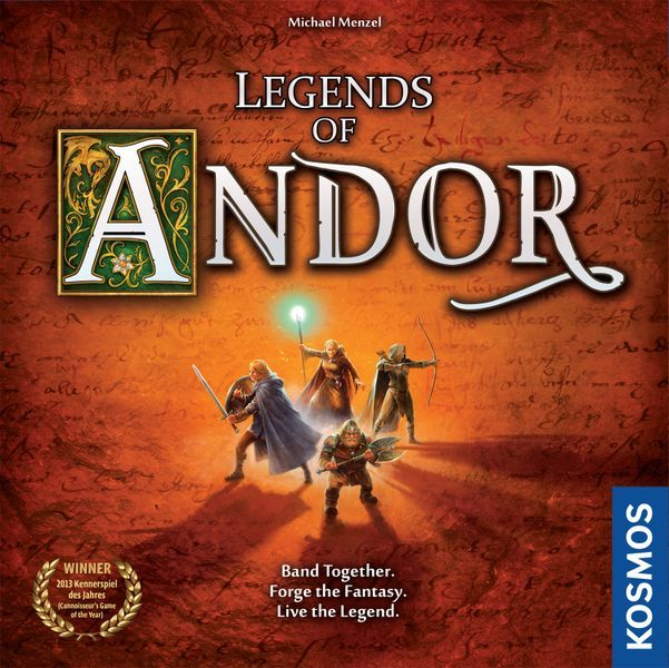 Legends of Andor board game cover