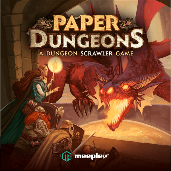 Paper Dungeons board game cover