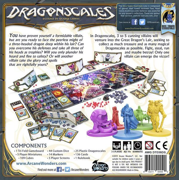 Dragonscales Board Game Back of the box