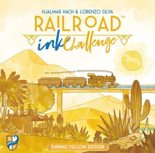 Railroad Ink Challenge Shining Yellow cover