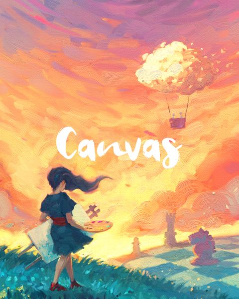 Canvas board game cover