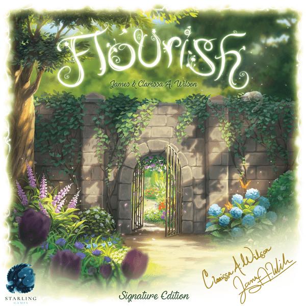Flourish board game box artwork