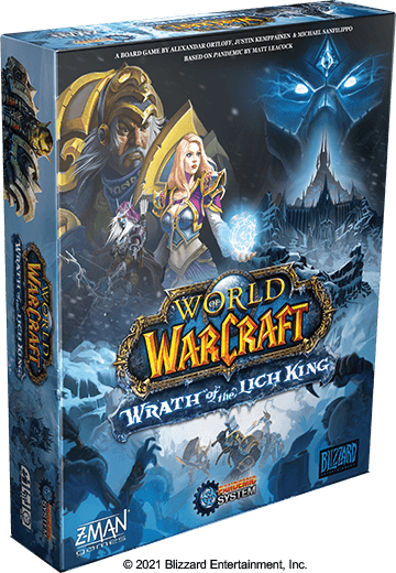 World of Warcraft Wrath of the Lich King board game cover artwork