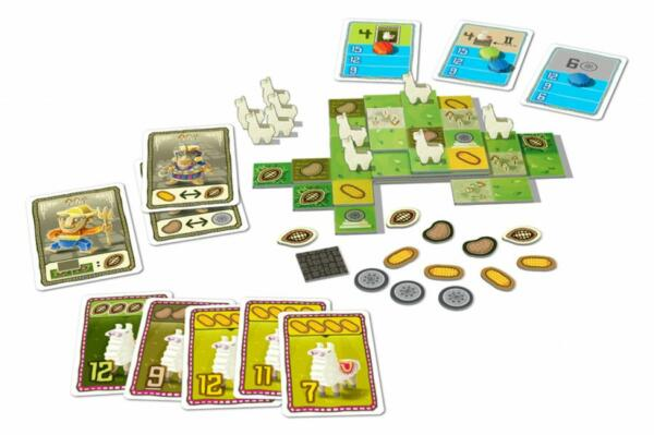 Llamaland (Lookout Games) setup