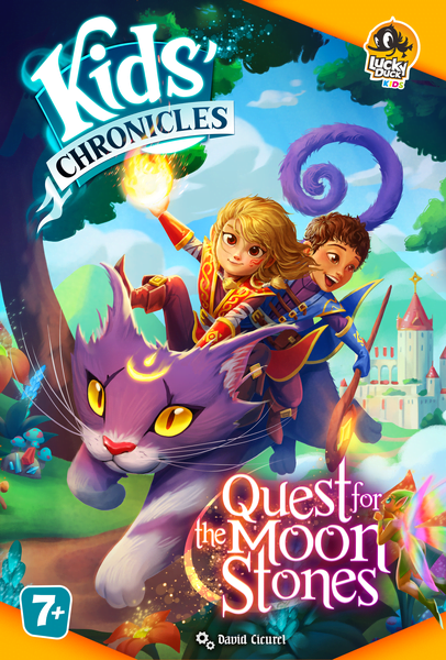 Kids Chronicles: Quest for the Moon Stone (Lucky Duck Games) cover artwork