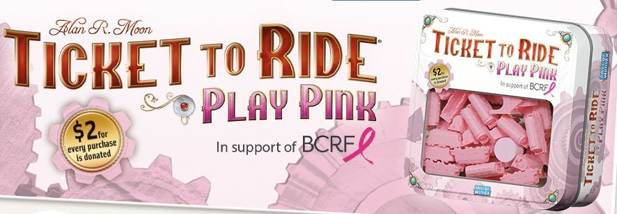 Ticket to Ride Play Pink Banner