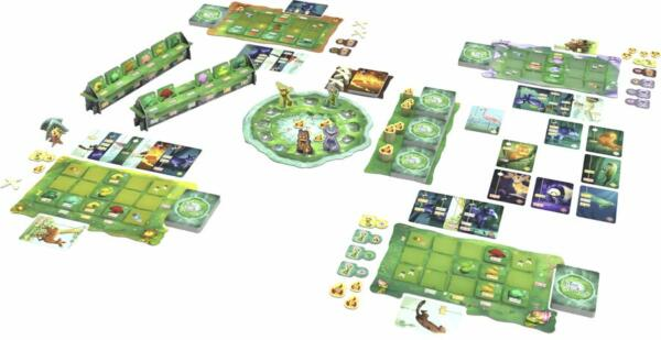 Living Forest Board Game components